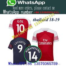 53b7c0f2a2c 2019 Arsenal football jersey 2018 AUBAMEYANG MKHITARYAN SHIRT OZIL 18 19  LACAZETTE TORREIRA XHAKA football top