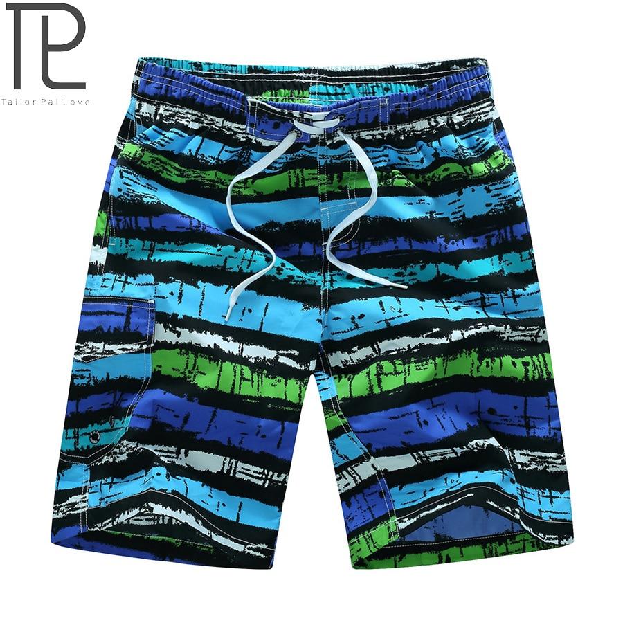 Tailor Pal Kärlek Mens Beach Shorts Casual Striped Print Män Snabb - Herrkläder - Foto 2