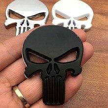 3D металлические Каратель наклейки для автомобиля череп мотоцикл тела наклейки грузовик эмблема значок авто аксессуары