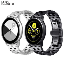 Laforuta Metal Strap for Samsung Galaxy Watch Active 42mm Band 20mm Stainless Steeel Watchband Men Women Bracelet Links