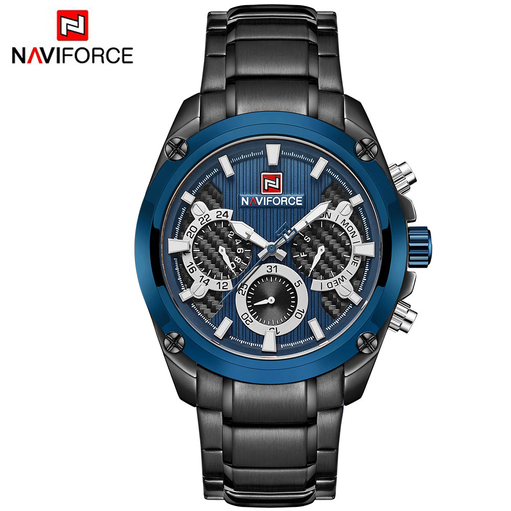 Brand Top Men Watch Relogio Masculino Blue Full Steel Men Business Quartz Watch Clock Men Creative Army Military Wrist Watches image