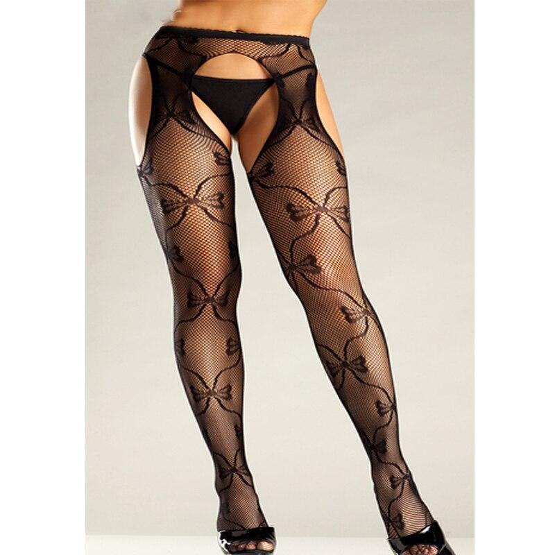 Sexy Stockings Open Crotch Plus Size Women Tight Crotchless Lenceria Femenina Mesh Transparent Fisnnet Pantyhose Medias SW191