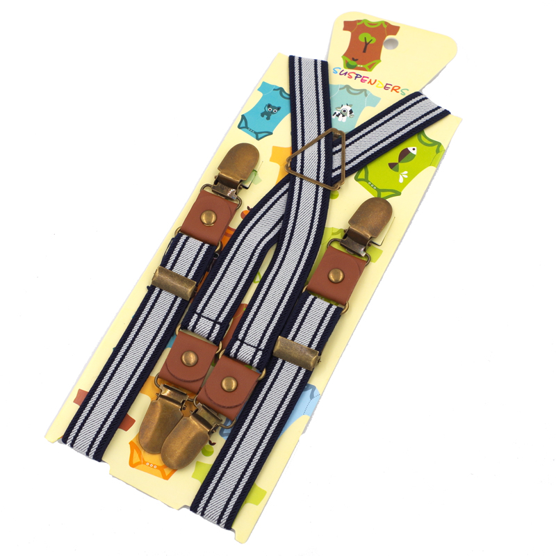 2016 New boys Suspenders girls Braces Adjustable baby Elasti kids Suspenders,Size 2.0*65 CM, Free Shipping