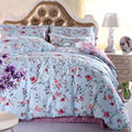Morden bedding set 3pcs bedding housse de couette AB side bed sheet Floral duvet cover set bed linens Garden style bed set