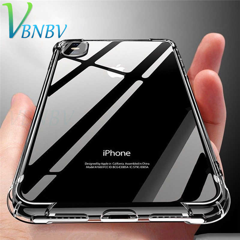 VBNBV 超薄型クリア透明 Tpu シリコンケース iPhone X XS 最大 XR クリア保護ケース 8 7 6 プラスカバー