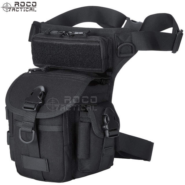 1467a46d372 ROCOTACTICAL Military Tactical Drop Leg Bag Tool Fanny Thigh Pack Pouch  Motorcycle Thermite Versipack