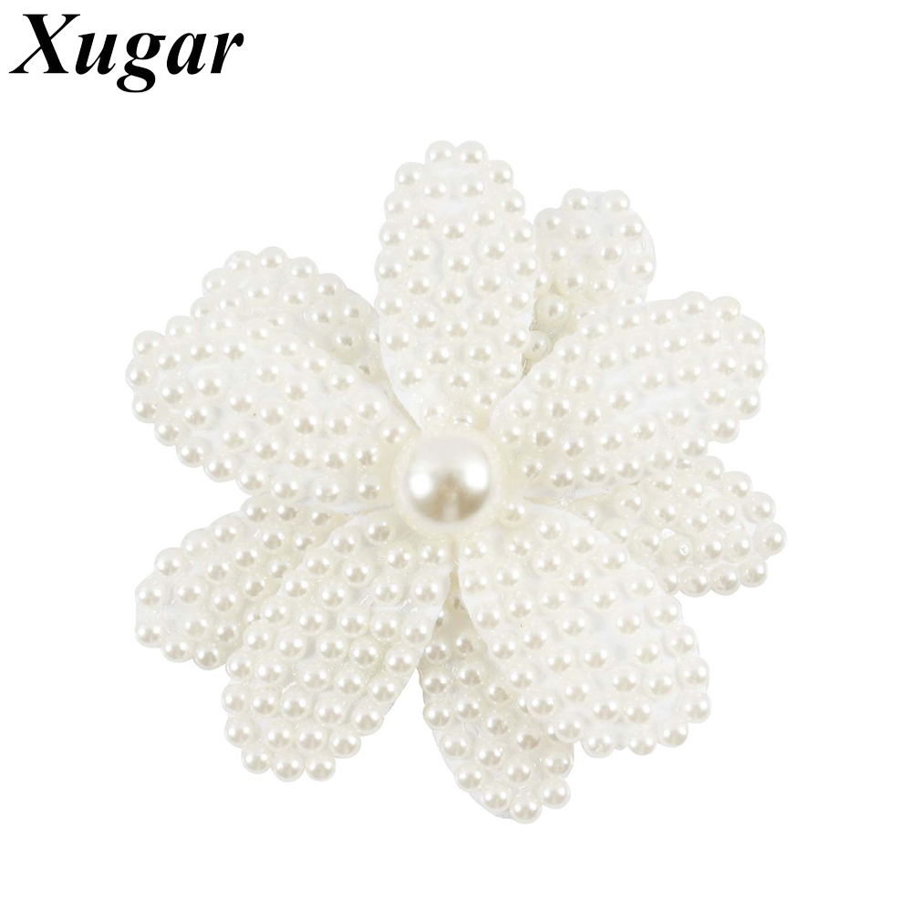 3'' Mini Elegant Pearl Flower Hair Bow With Alligator Clip Hairpins For Dance Party Sweet Hair Accessories new hair claw for women girl elegant high quality hair clip party decorations holiday gift accessories