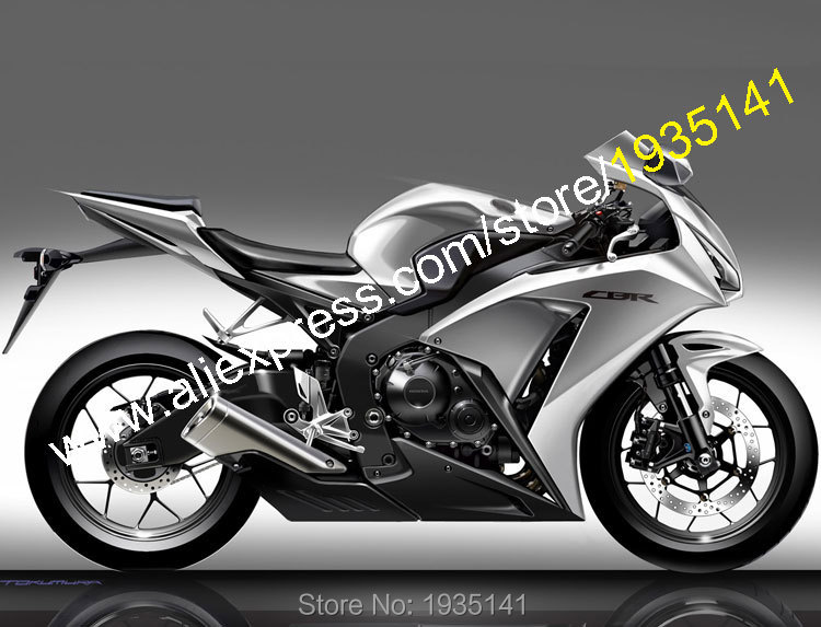 Hot Sales,CBR1000RR Fairing For Honda 2012 2013 2014 CBR 1000 RR 12 13 14 Silver Black ABS Sport Body Kits (Injection molding) hot sales cheap price for yamaha tmax 530 2012 2014 t max 530 tmax530 matte black sport bike abs fairing injection molding