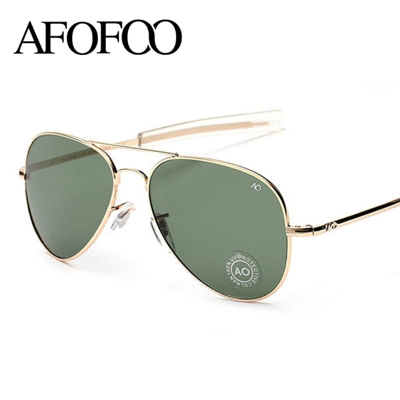 e7b436c880f AFOFOO Vintage Classic AO Glass Sunglasses Brand Designer Fashion Summer  Women Men Sun glasses Eyewear Oculos de sol