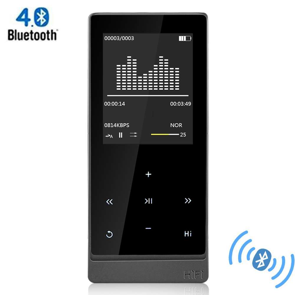 bluetooth mp3 player bluetooth 4 0 touch screen metal. Black Bedroom Furniture Sets. Home Design Ideas