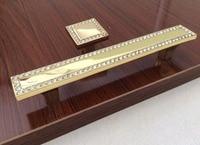 Gold Crystal Dresser Knobs Drawer Handles Square Glass Cabinet Handle Knob Kitchen Cupboard Handle BlingBling Hardware