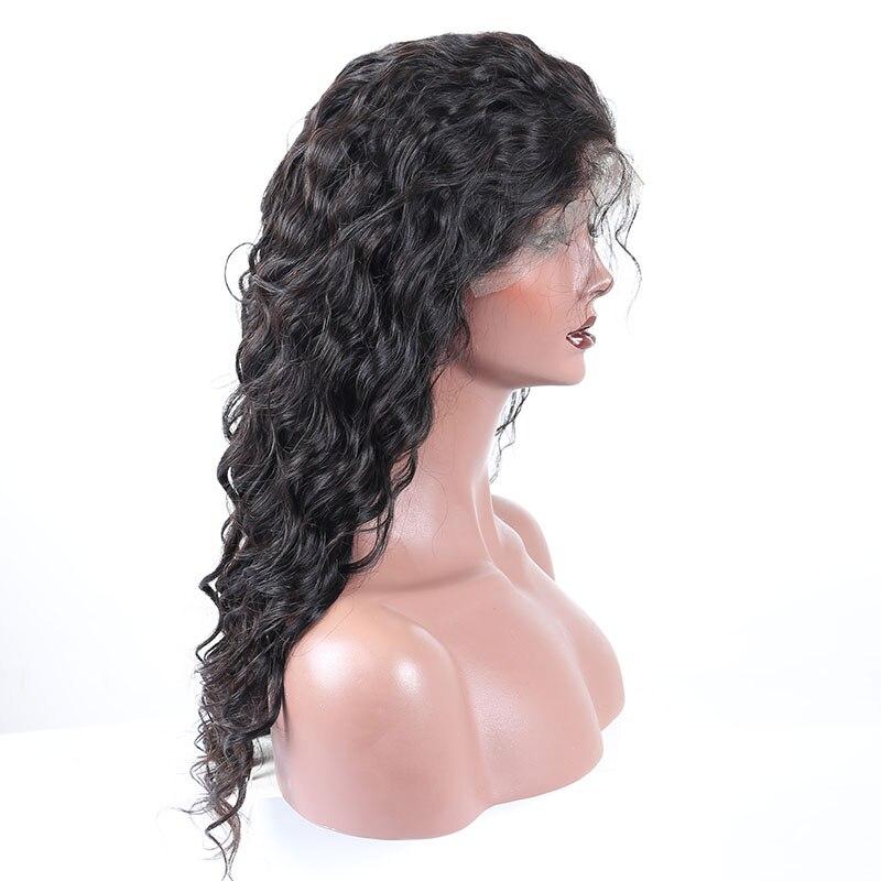 Свободная волна Full Lace человеческих волос парики для Для женщин Бразильский натуральный черный Волосы remy парик предварительно сорвал с воло...