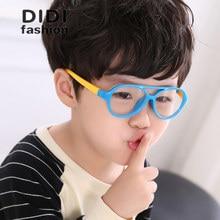283c5148e الاطفال الطفل البلاستيك إطار من التيتانيوم دون عدسة الديكور نظارات TR90  وصفة طبية إطارات الفتيات الفتيان الطيار نظارات Oculos C6.