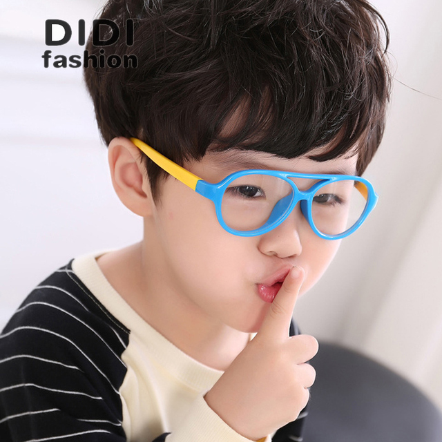 ddddc1a7c63 Kids Baby Plastic Titanium Frame Without Lens Decoration Glasses TR90  Prescription Frames Girls Boys Pilot Eyewear Oculos C655