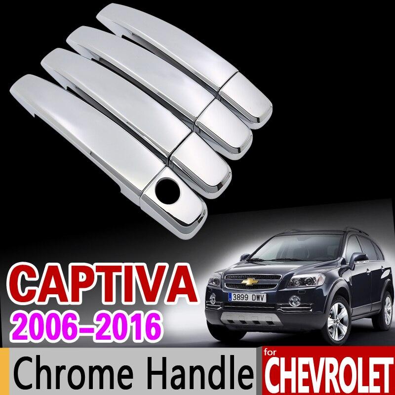 Para chevrolet captiva 2006-2016 chrome lidar com capa guarnição conjunto holden daewoo winstorm 2008 2013 2015 acessórios do carro estilo