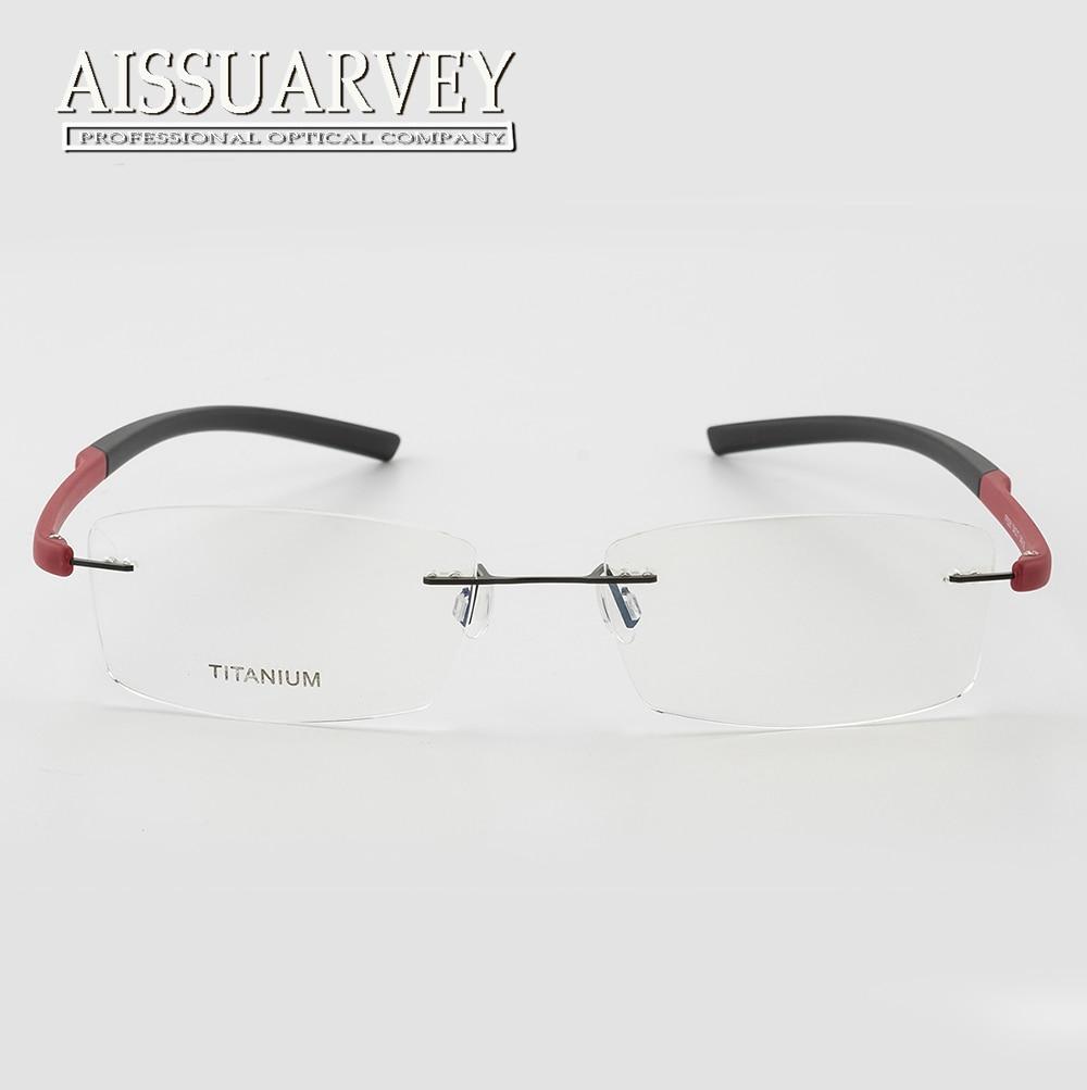 e470955430cf1 Titanium Tr90 Rimless Eyeglasses Frames Optical Glasses Light Prescription  Brand Designer Top Quality Eyewear Flexible Reading-in Eyewear Frames from  ...