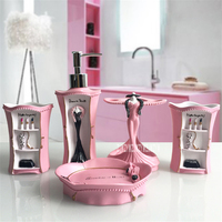 Elegant Lady Makeup Bathroom Toiletries Five Piece Kit Creative Resin Bathroom Accessories Washing Set Wedding Decoration