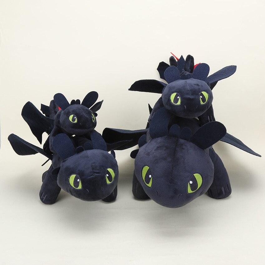 10pcs Lot 23cm 33cm 40cm anime How To Train Your Dragon 2 Toothless Night Fury plush