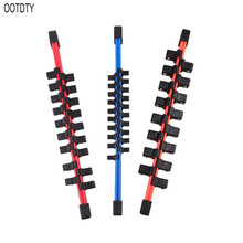 OOTDTY 3pcs/set Universal Industrial Plastic Double Sided Sleeve Socket Rail Holder Organizer 1/4 3/8 1/2