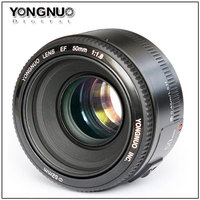 In Stock! YONGNUO YN 50mm F1.8 Lens Large Aperture Auto Focus Lens for Canon EOS 60D 70D 5D2 5D3 7D2 750D 650D 6D DSLR Cameras