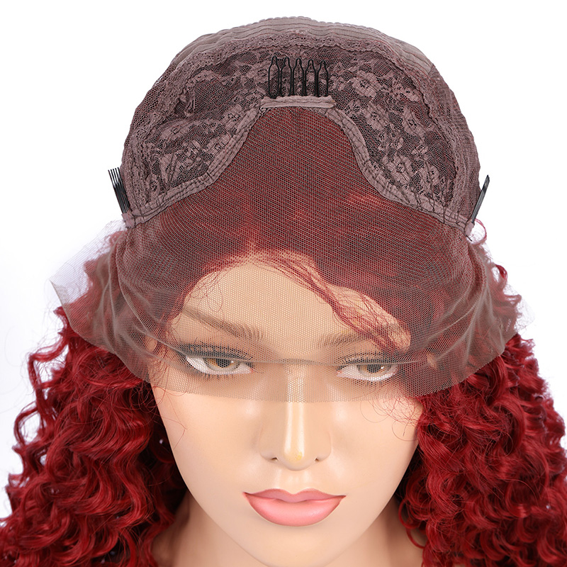 Lace Front Human Hair Wigs Plucked Hairline Remy Lace Wig With Baby Hair Natural Mid-point Long curly wigs Styling Accessory stock 130% density wavy full lace wigs 100% virgin brazilian human hair glueless full lace wigs