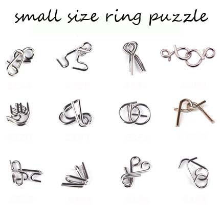 Adult educational toys ring solution metal ring puzzle