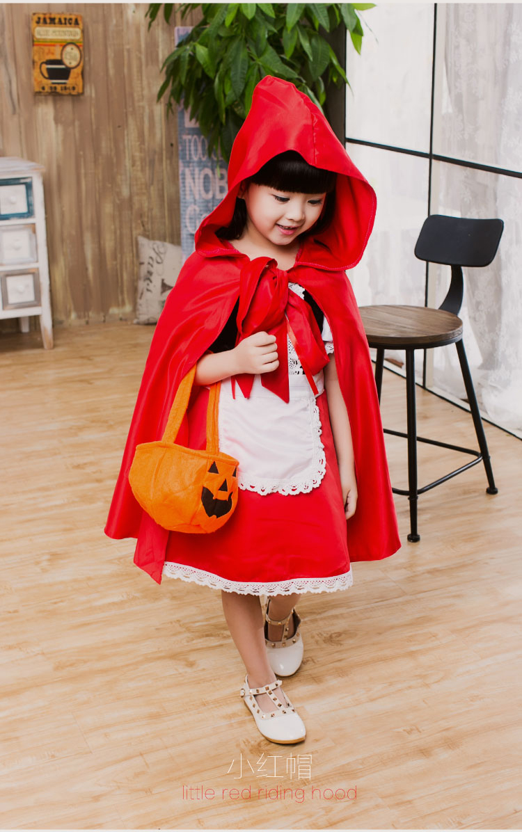 Us 25 93 5 Off Carnival Costume Cute Cosplay Little Red Riding Hood Halloween Costume For Girls Cosplay Lol Annie Costume Fancy Dress Party In Girls