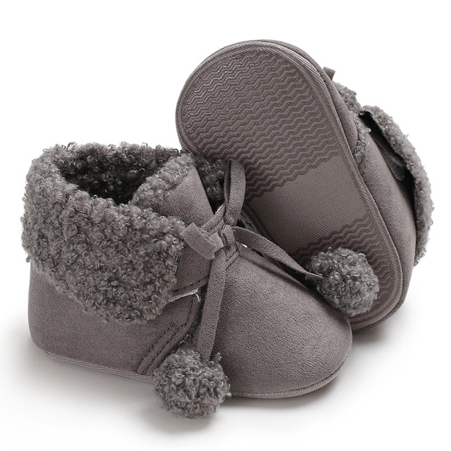 6fb297ff7c0 Raise Young Winter Plus Velvet Baby Booties Soft Soles Anti-slip Toddler  Grils Boots Newborn