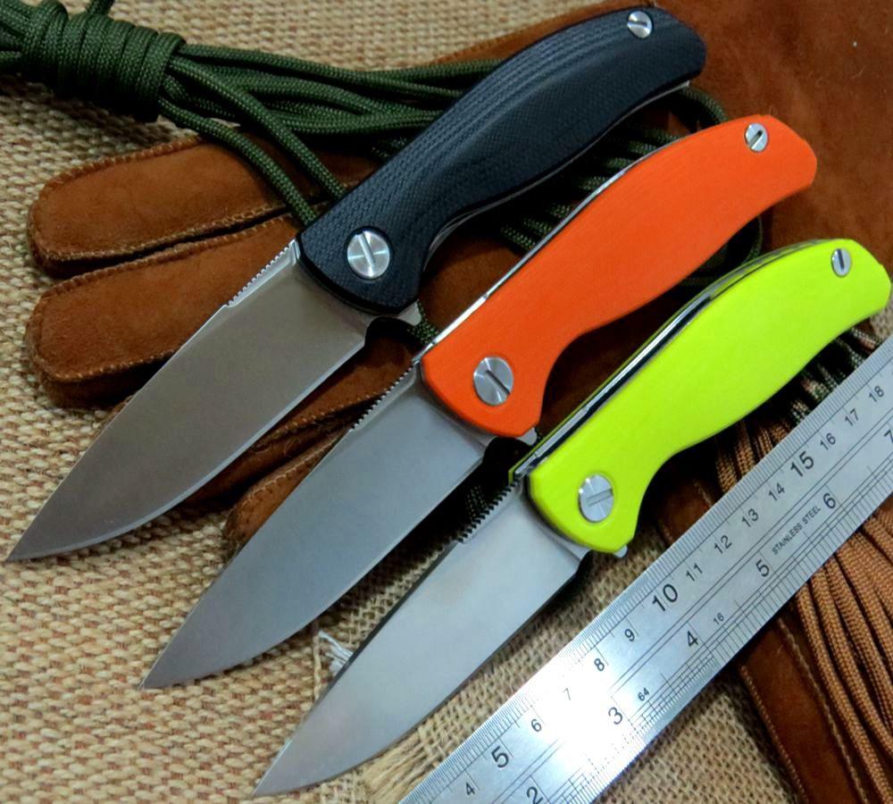 Custom F3 Bearing system Floding font b knife b font D2 blade G10 handle outdoor survival