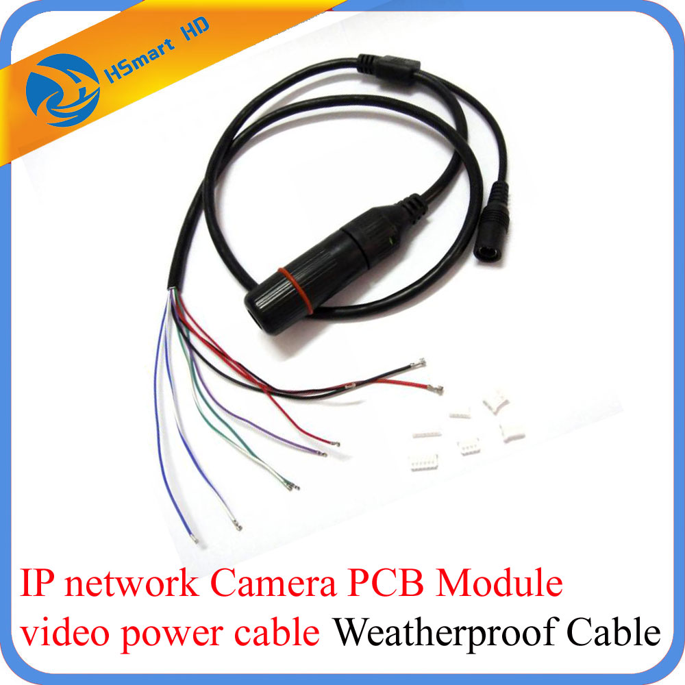 CCTV IP Network WiFi HD Camera PCB Module video power Weatherproof Cable RJ45 female & DC male 10pcs cctv poe ip network camera pcb module video power cable 60cm long rj45 female connectors with terminlas
