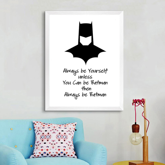 Classic always be yourself cartoon batman super hero poster canvas classic always be yourself cartoon batman super hero poster canvas paintings pop wall art pictures for solutioingenieria Choice Image