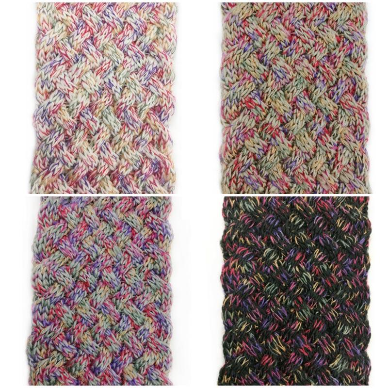Leo anvi Multicolor ring schal frauen stricken Woolen Weben häkeln ...
