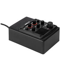ADDFOO Cherub G-Tone GT-5 Acoustic Guitar Preamp Piezo Pickup 3-Band EQ Equalizer LCD Tuner with Reverb/Chorus Effects