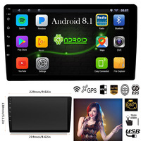 Android 8.1 Car Stereo Multimedia Player Quad Core 2 Din Wifi Bluetooth Autoradio 10.1/9 Touch Screen Car Radio GPS Navigation