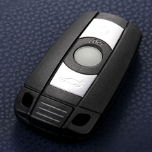 Smart Key shell 3 Button Remote Car key Case KR55WK49127 123 Fit For BMW 328i 330i 335i 525i 528i 530i 535i 550i Replacement Fob replacement 2 button transponder smart key casing for bmw mini