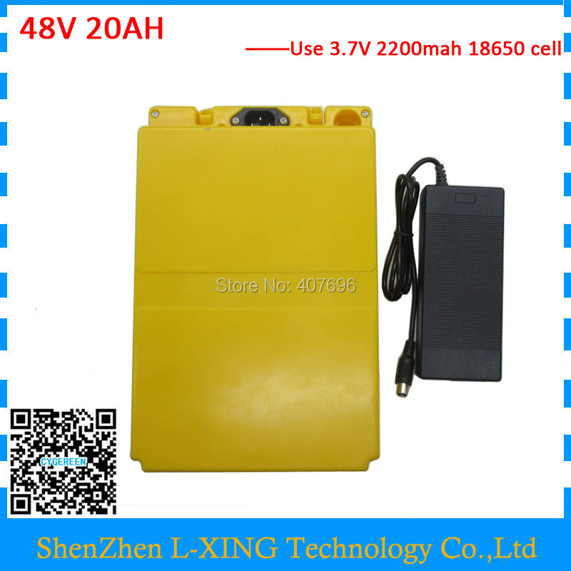 Free customs duty 20Ah 48V EBike Battery kit For 18650 Cell Built-in 30A BMS Lithium Battery 48V 20AH With Case 2A Charger conhismotor atlas ebike 48v 11 6ah lithium ion down tube frame case battery pack for 10a 3c 18650 cell with bms and 2a charger