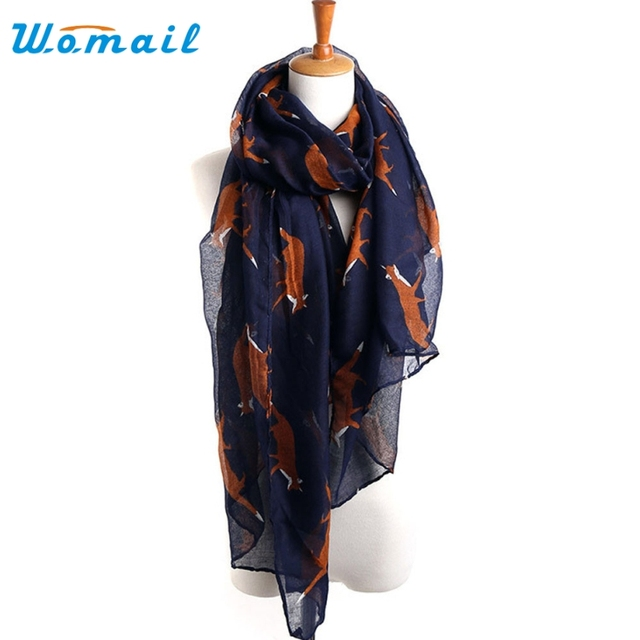 Womail Good Deal Good Deal  New Fashion Lady Womens Long Cute Fox Print Scarf Wraps Shawl Soft Scarves Gift*#