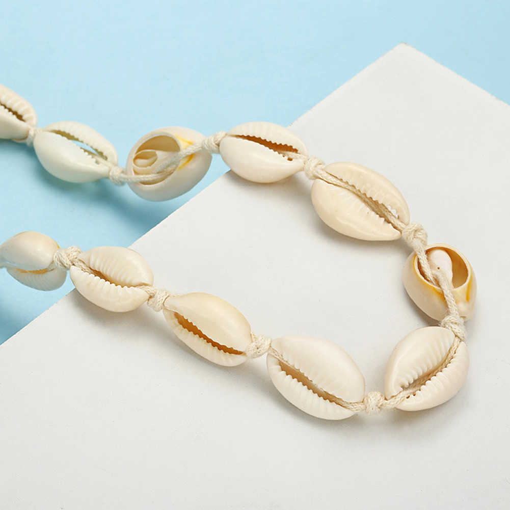 ファッション女性手作り貝殻チョーカーチェーンアンクレットビーチジュエリーギフト新ホット