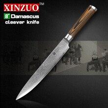 """XINZUO 8 """"zoll Sashimi messer 73 schicht Damaskus küchenmesser Japanischen VG10 hackmesser Farbe holzgriff kostenloser versand"""
