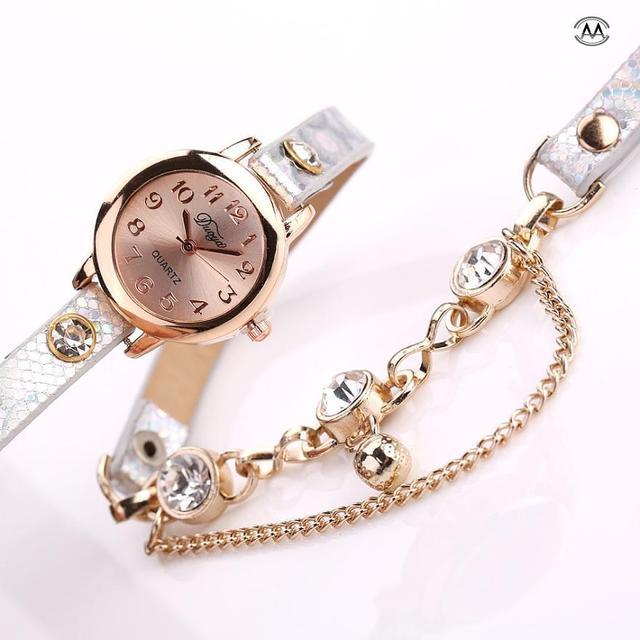 Hot sale fashion luxury bead pendant watches bracelet watch women wrist watches