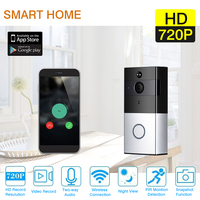 Wireless Wifi HD 720P Smart Video Doorbell Camera Battery Built In 16GB SD Card Support PIR