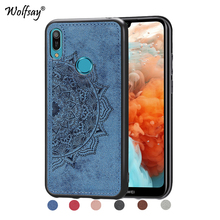 Huawei Honor 8A Pro Shockproof Soft TPU Cloth Texture Hard Phone Case For Huawei Honor 8A Pro Cover Huawei Honor 8A Pro Fundas for huawei honor 8a pro case flip wallet business leather coque phone case for honor 8a pro jat l41 cover fundas accessories