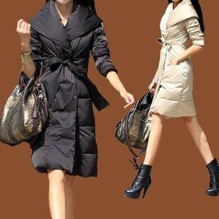 Down filled puffer coat womens