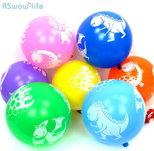 20pcs/a pack Cartoon Dinosaur Latex Balloons Childrens Toy Birthday Gifts Festival Party Supplies