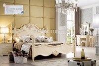 Заводская цена оптовая цена хорошее качество Спальня роскошная мебель King size принцесса деревянная кровать