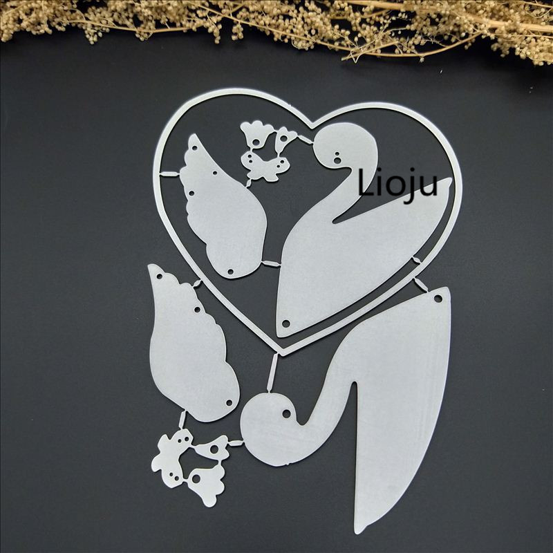 New Swan Metal Cutting Dies Stencils For DIY Scrapbooking DIY Clear Stamps Steel Embossing Craft Decoration Stencil Folder in Cutting Dies from Home Garden
