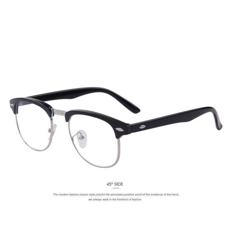 MERRY\'S Classic Retro Clear Lens Men Eyeglasses Women Half Metal ...