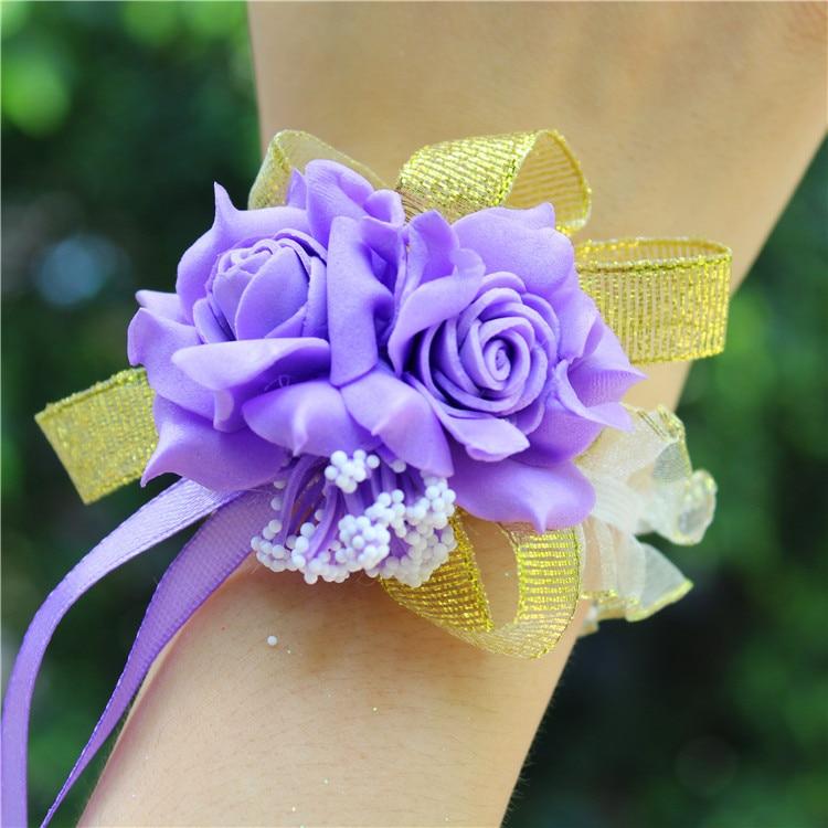 2019 New Arrival Wrist Corsage  Hand Corsage Flowers Wedding Corsages Hand  Flower Bracelet For Bridesmaids  Prom Bracelets Hot