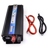 2000 Watt Convertisseur De Voiture DC 24V To AC 220V Car Auto Power Inverter Charger Converter