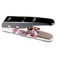 Flanger Guitar Pick Cutter Black Make Custom Heart Shape Plectrums from Sheet. Plectrum Punching Tool